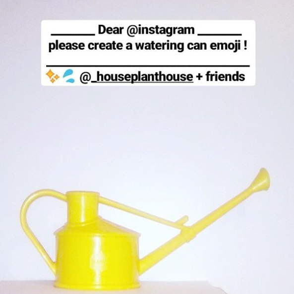 watering can emoji petition