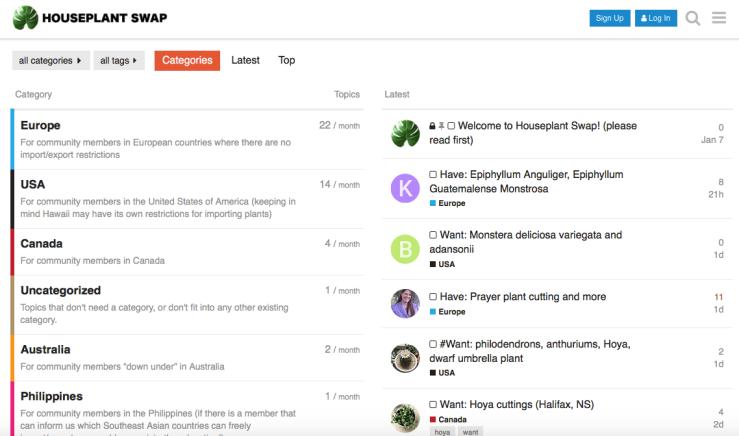 houseplantswap screenshot 1