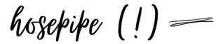 hosepipe
